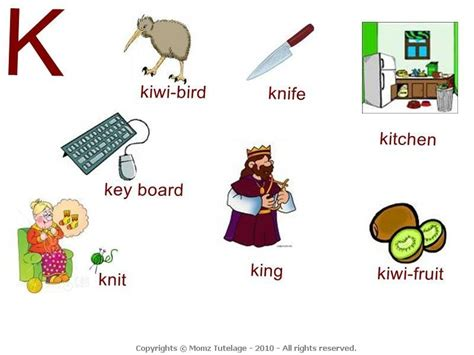 words that start with k preschool things that start with the letter k letter of recommendation 999