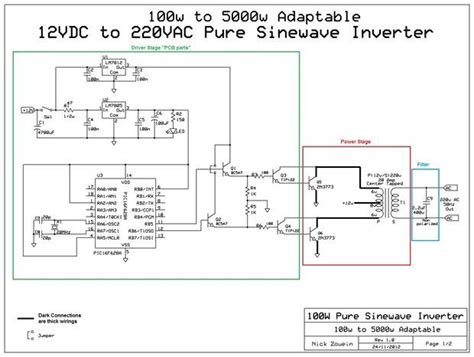 Circuit Diagram Of 600va Inverter by Adaptable 12vdc 220vac Sinewave Inverter Projects