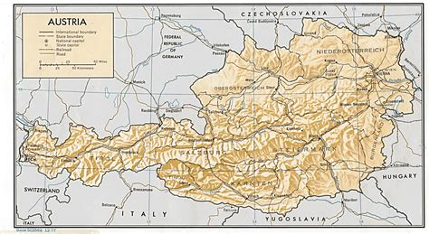 alps austria map