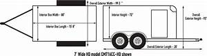 Custom Cargo - 7 U0026 39  Wide Single  Tandem