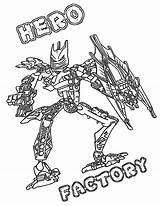 Coloring Hero Factory sketch template