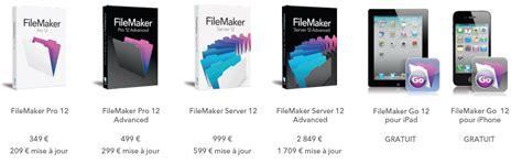Filemaker Pro 12, La Base De Données Accessible  1 Les