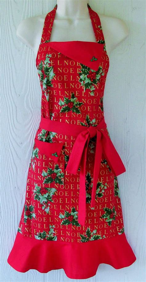 christmas aprons ideas  pinterest vintage
