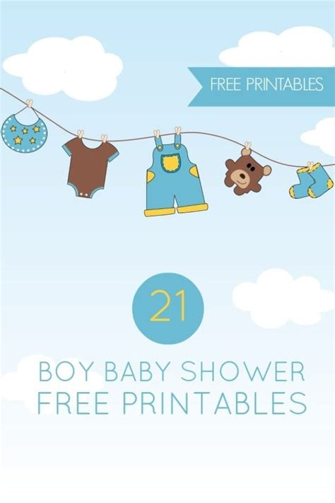 Free Baby Shower Printable - 21 free boy baby shower printables spaceships and laser