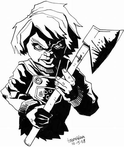 Chucky Scary Drawings Pencil Horror Jason Clipart