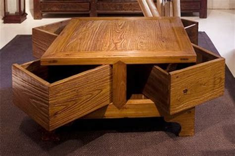 coffee table  drawers design images  pictures