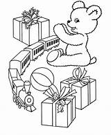 Coloring Christmas Toys Pages Gift Toy Printable Train Printables Gifts Scenes Presents Printing Kid Giving Story Holiday Trains Popular Help sketch template
