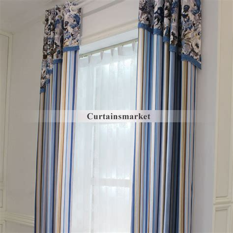 mediterranean style curtains in floral and striped lines