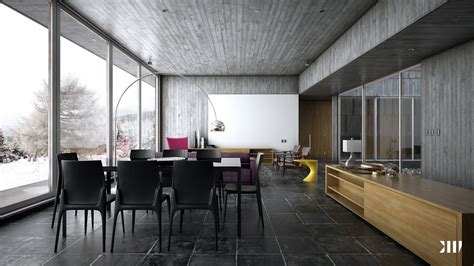 homes with modern interiors winter house