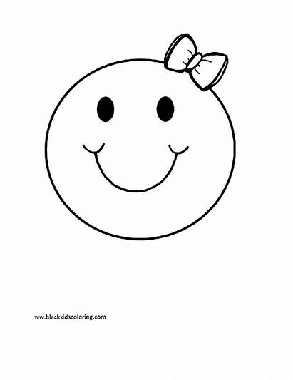 Coloring Smiley Face Pages Printable Faces Emoji
