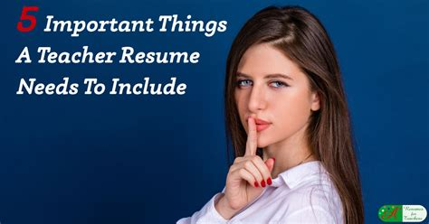 5 important things a resume needs to include
