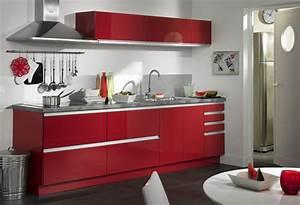 meuble cuisine solde modele cuisine noir laque cuisine With ordinary decoration exterieur de jardin 17 cuisine rouge bordeaux but