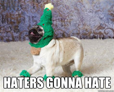 I Hate Christmas Meme - haters gonna hate christmas pug quickmeme