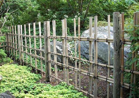 Bambuszaun Einfache Elegante Bambuszäune Für Die