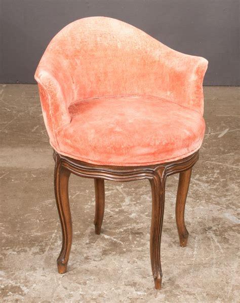 country barrel back upholstered swivel vanity stool o