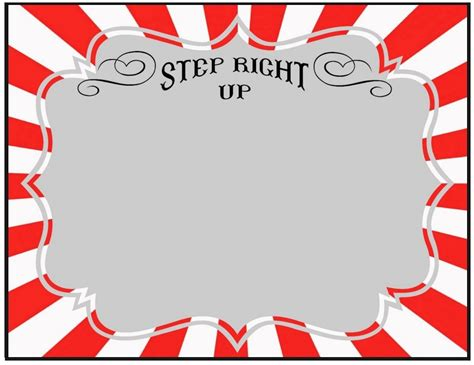 Circus Signs Template by Blank Sign Carnival Circus Carnival Signs