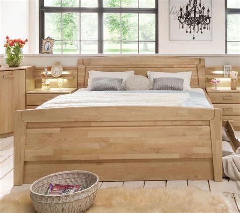 Doppelbett In Zwei Komforthöhen Aus Teilmassiver Erle Temara