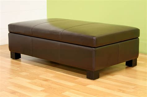 Leather Ottoman With Storage by Rocio Brown Bonded Leather Storage Ottoman By Wholesale