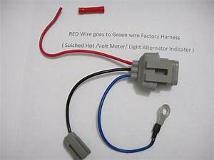 Ford 3g Alternator Conversion Harness Connector 1 Wire