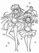 Sailor Coloring Pages Moon Sailormoon Tuxedo Mask Jupiter Venus Sheets Printable Colouring Adult Google Books Series Manga sketch template