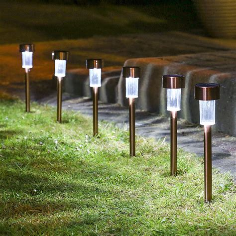 Beleuchtung Garten Solar by 10 X Stainless Steel Solar Lights Powered Garden Post Path