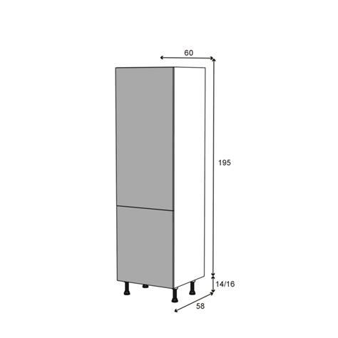 colonne de cuisine n 176 2721 armoire frigo encastrable ginko