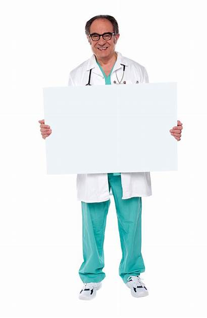 Doctor Holding Banner Transparent Purepng Library