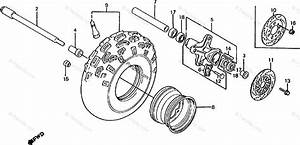 Honda Atv 1986 Oem Parts Diagram For Front Wheel