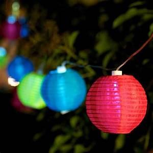 Guirlande Lumineuse Boule Exterieur : guirlande lumineuse solaire d 39 ext rieur 10 boules multicolores fiesta decoclico ~ Dode.kayakingforconservation.com Idées de Décoration