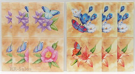 kitchen tile appliques tile covers 12 butterfly flower stick ups appliques 3238