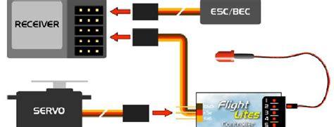 Rc Receiver Wiring Diagram flightlites ultralight aircraft lighting system rc groups