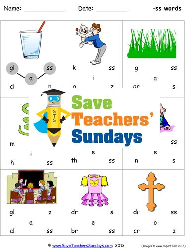 Ss Phonics Worksheets, Activities, Flash Cards And Other