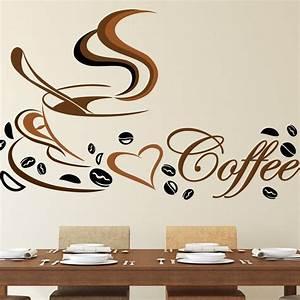 Wandtattoo Küche Bilder : wandtattoo k che coffee spruch kaffee tasse herz wandaufkleber farbig cafe mokka ebay ~ Sanjose-hotels-ca.com Haus und Dekorationen