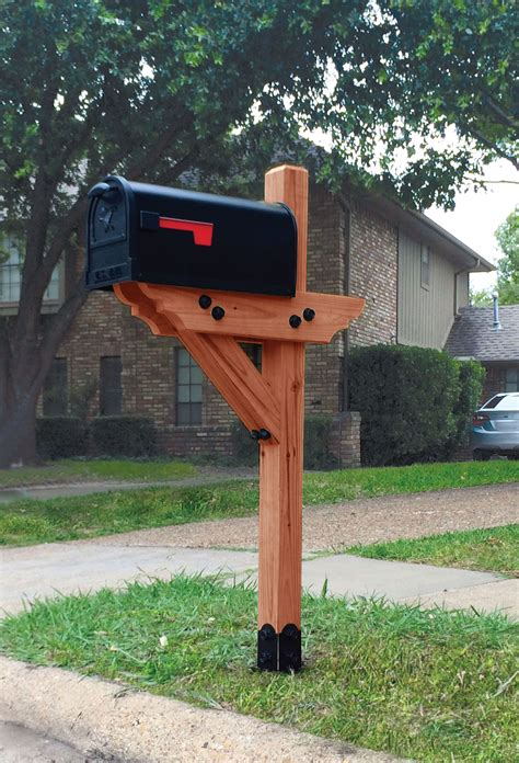 mailbox designs dress your mailbox up in style with this wood mailbox post curb appeal outdoor upgrades