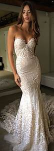 Wedding dresses strapless fitted lace wedding dress by for Strapless fitted wedding dresses