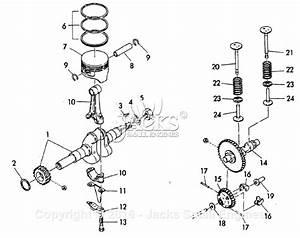 Robin  Subaru W1 Camshaft  Piston  Rod  Valve