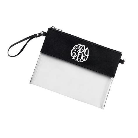 monogram clear wristlet purse black wristlet purse purses monogram