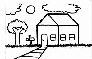 Simple Drawing Of A House - Drawing Sketch Picture