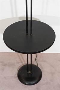midcentury dual light gooseneck floor lamp with table for With 5 light gooseneck floor lamp