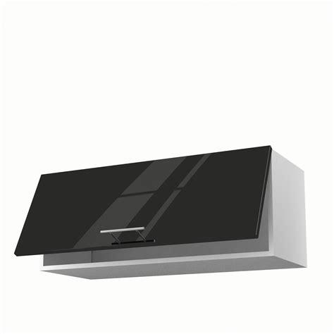 meuble de cuisine haut noir 1 porte h 35 x l 90 x p 35