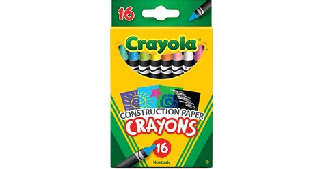 Crayola 16 Ct Crayons For Construction Paper