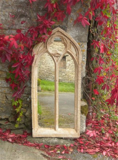 ft   ft  gothic double arch garden window glass mirror large