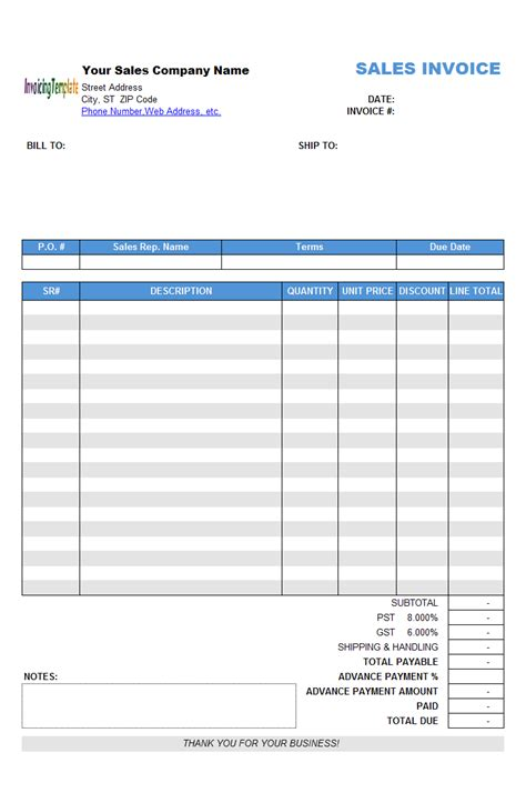 excel invoice template  automatic numbering