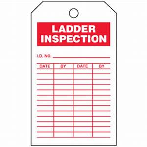 tags on a roll ladder inspection from setonca stock With kitchen cabinets lowes with ladder inspection stickers