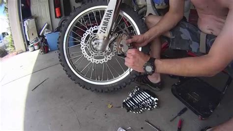 How To Replace Brake Pads On A Dirt Bike Wr450f