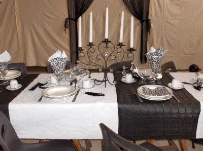 deco fete noir et blanc theme noir blanc etes fiere decoration table fete montrez 152945 diverses deco tables pri y
