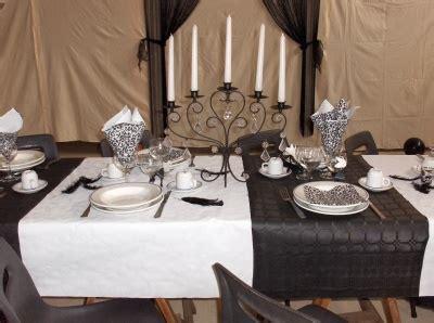 theme noir blanc etes fiere decoration table fete montrez 152945 diverses deco tables pri y