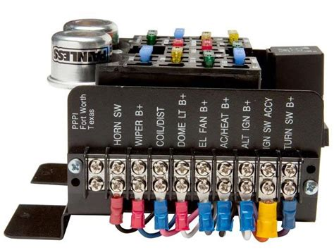 painless wiring universal style pre wired 14 circuit fuse block ce auto electric supply