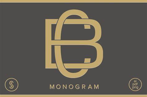 bc monogram cb monogram logo templates creative market