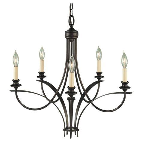 single chandelier feiss boulevard 5 light rubbed bronze single tier